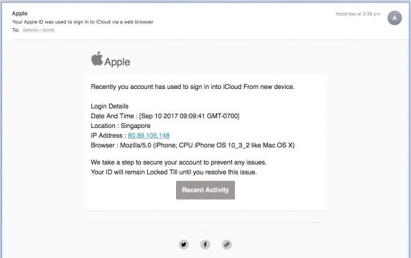 scam apple email, fake, fraud